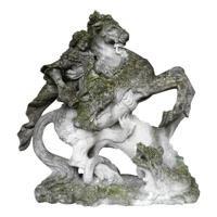 Statue Saint-Georges en Pierre Calcaire, 19ième Siècle