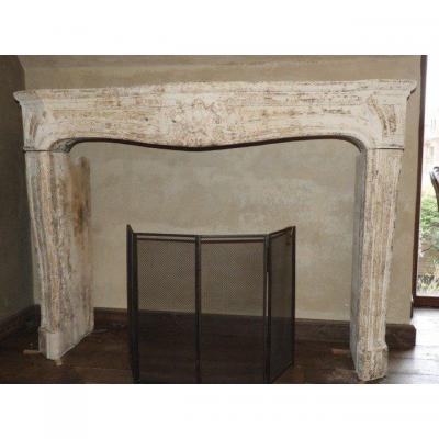 Regency  Limestone Fireplace, 18th Century