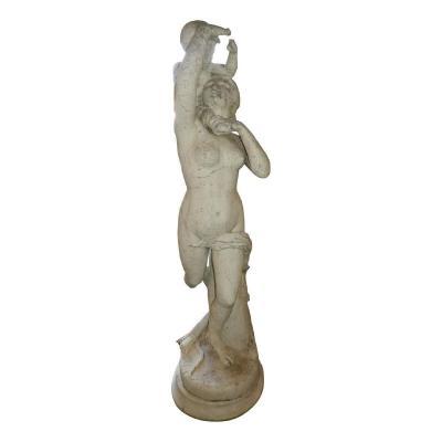 19th Century Carrara Marble Garden Statue