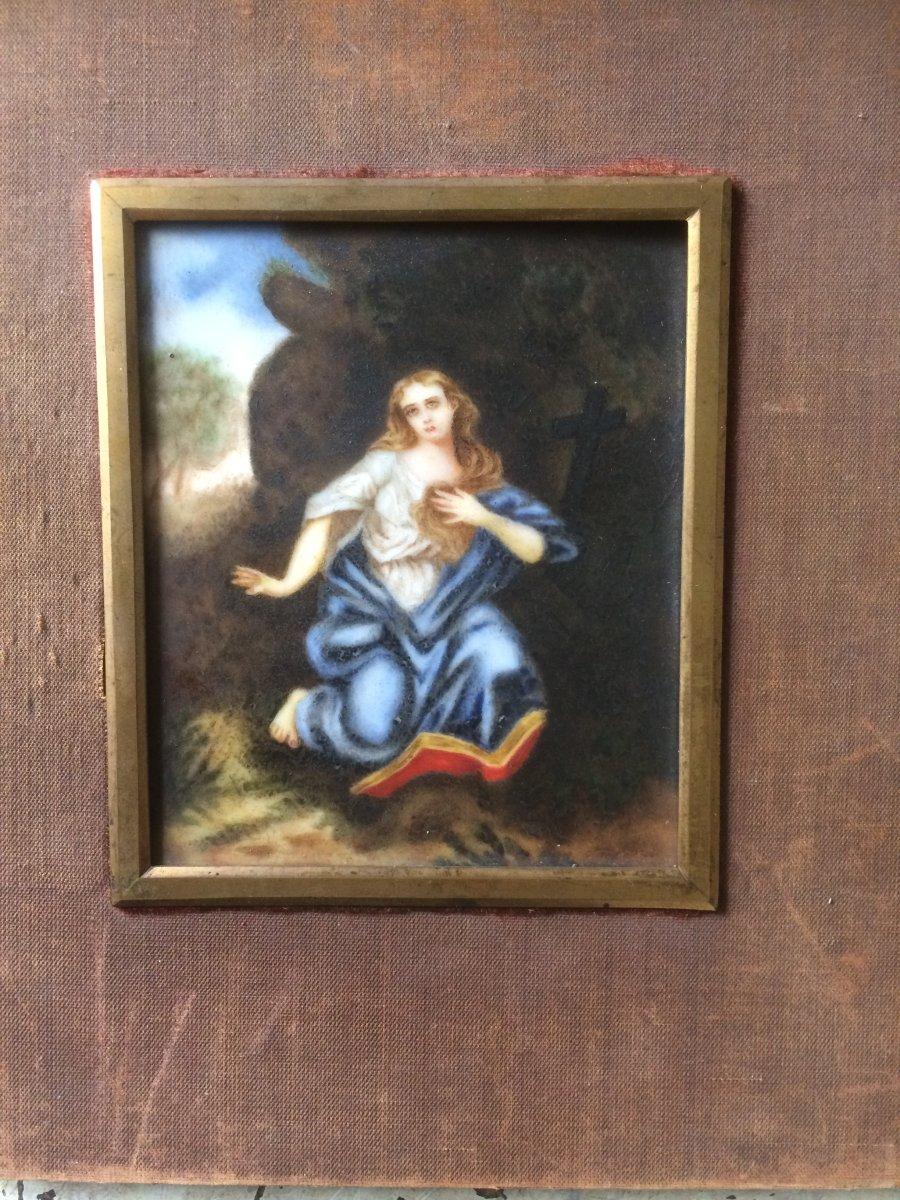 Peinture Sur Porcelaine, Sainte-madeleine Pénitente