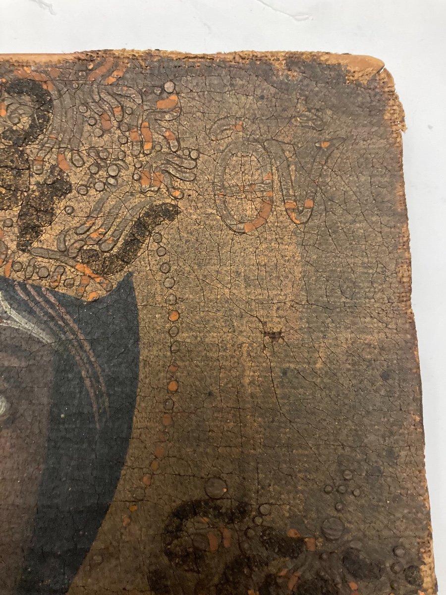 Vierge en Majesté, Huile sur toile, début XVIIIème-photo-2