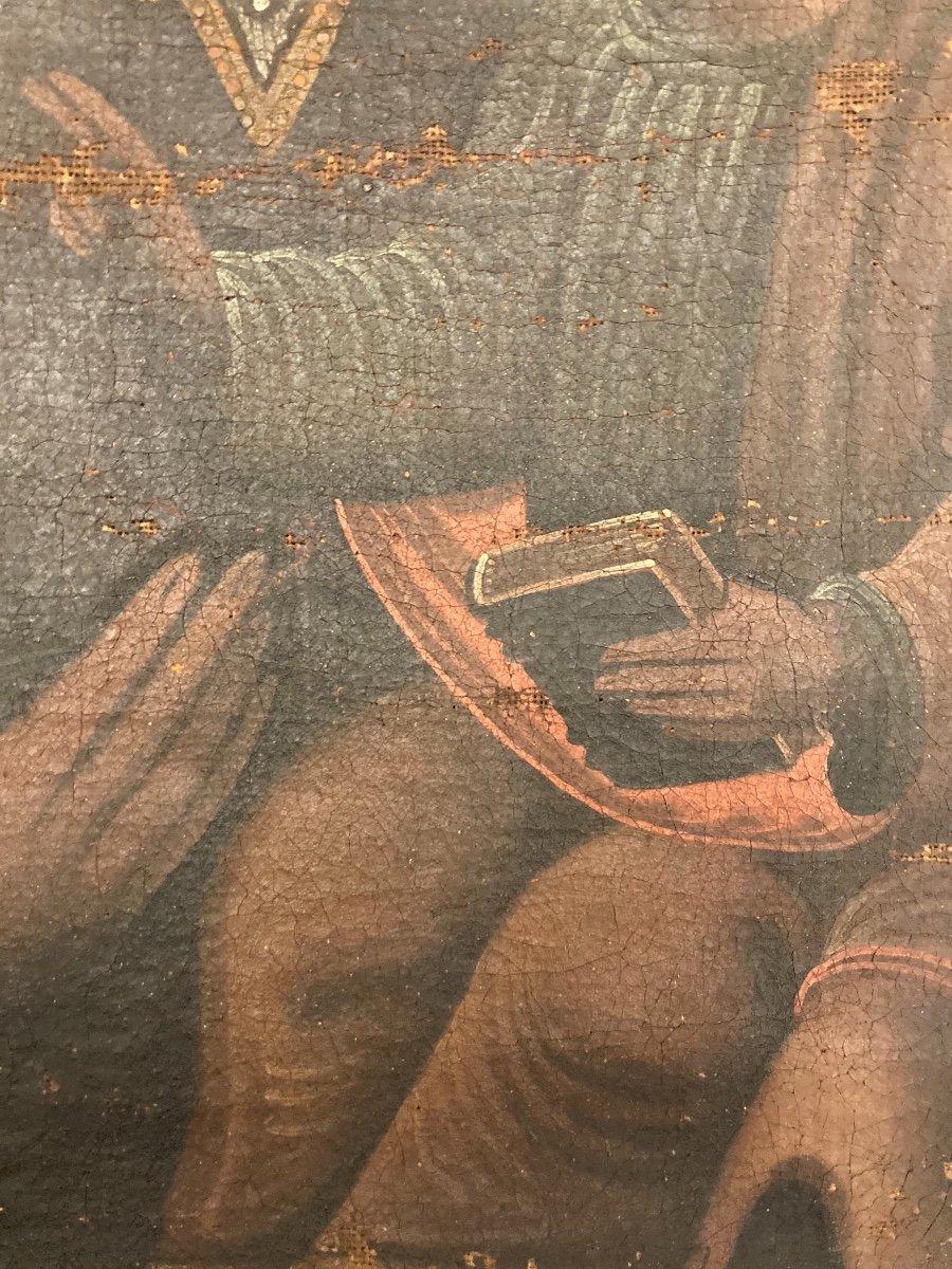 Vierge en Majesté, Huile sur toile, début XVIIIème-photo-4