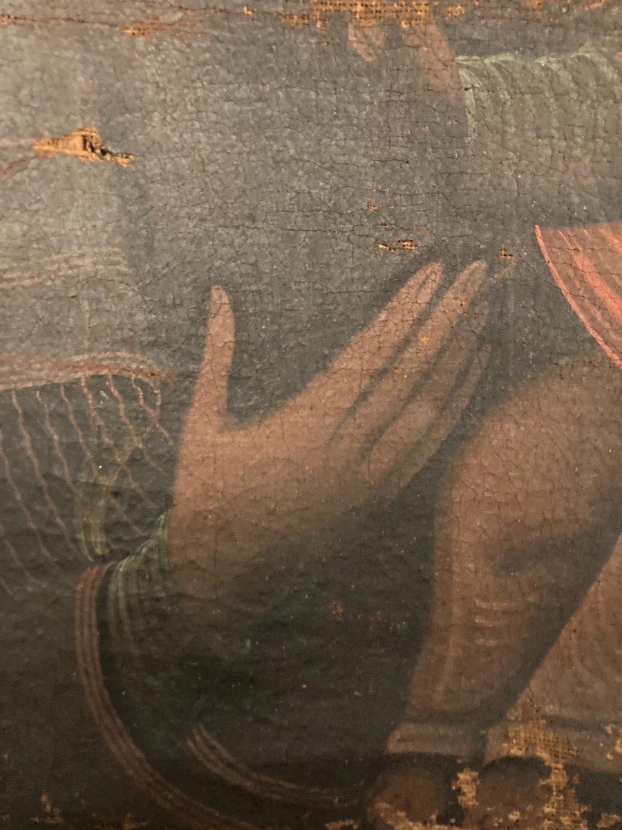 Vierge en Majesté, Huile sur toile, début XVIIIème-photo-5