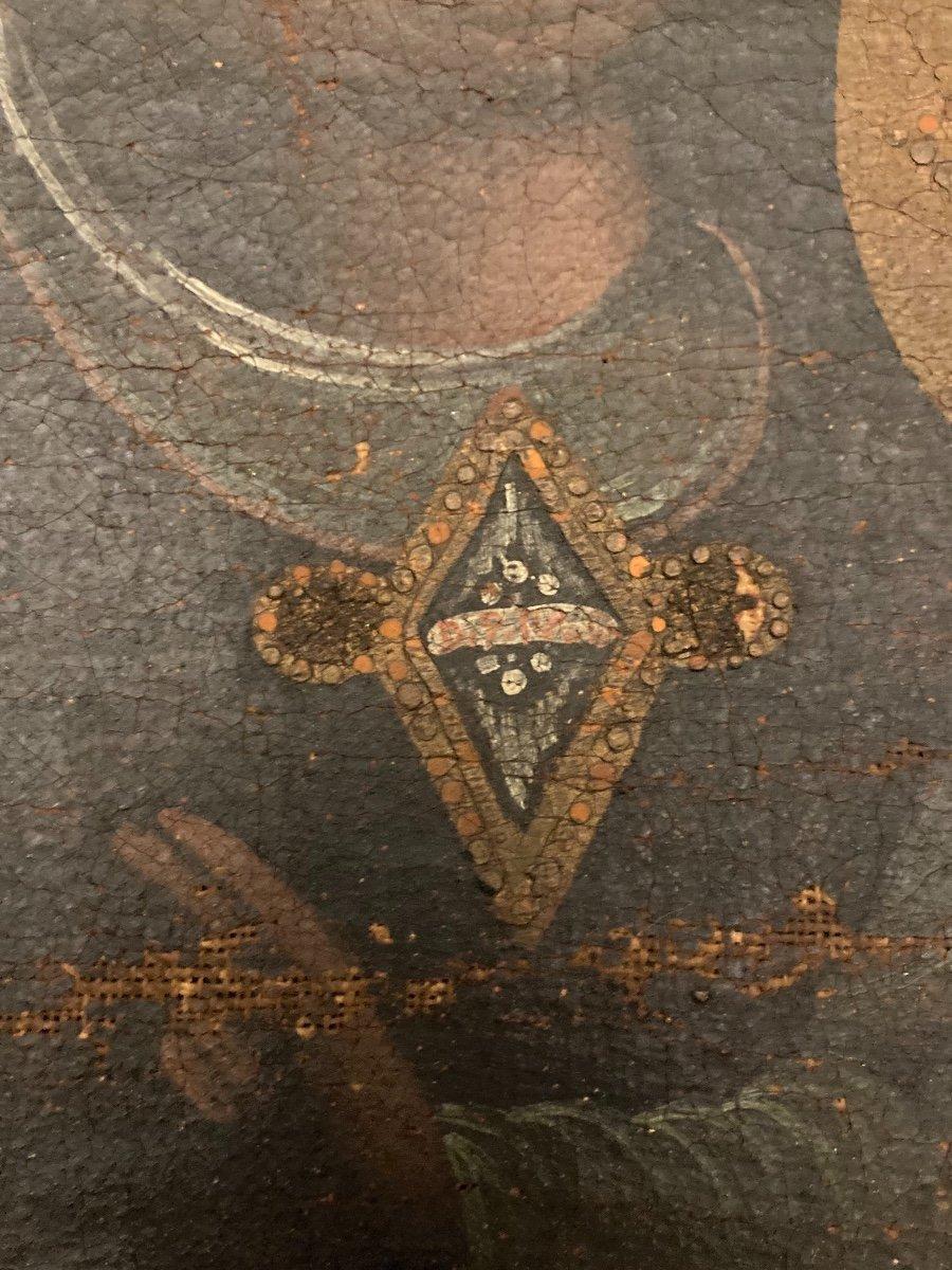 Vierge en Majesté, Huile sur toile, début XVIIIème-photo-6