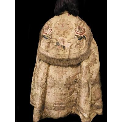 Procession Cloak Embroidered With Gold And Silver Thread