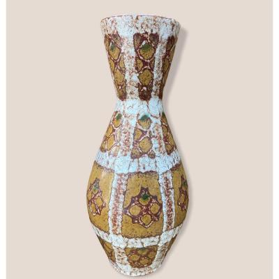 Grand Vase 1950-1960 En Céramique vernissée De West Germany