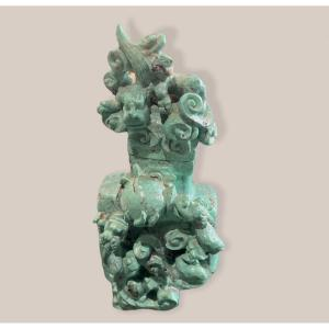 Chinese Covered Pot In Turquoise, Circa 1900