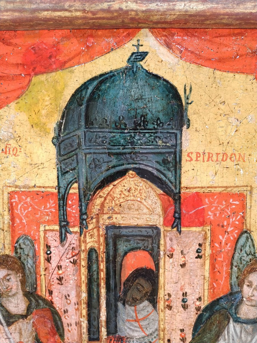 Monstrance Des Reliques De Saint Spiridon Icône Corfou 18e - Ο Άγιος Σπυρίδων -photo-1