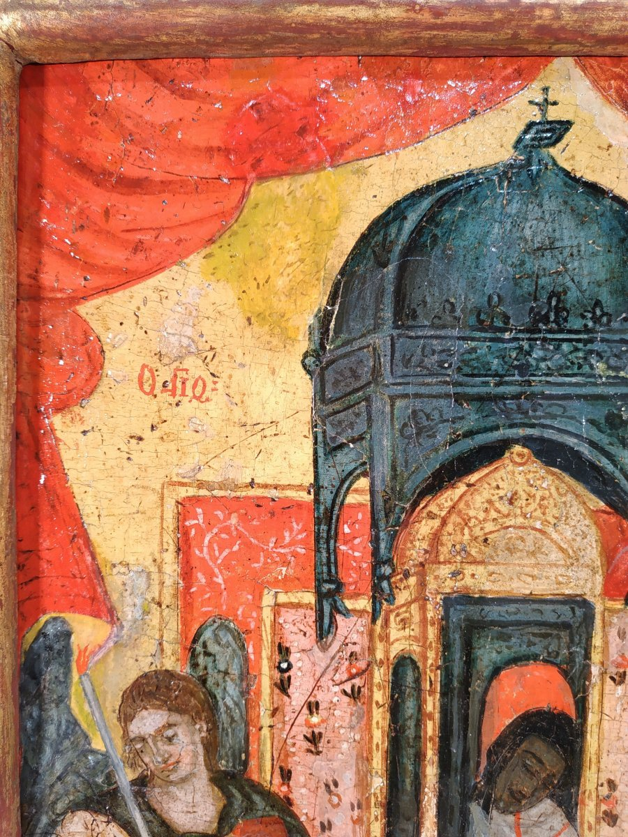 Monstrance Des Reliques De Saint Spiridon Icône Corfou 18e - Ο Άγιος Σπυρίδων -photo-3