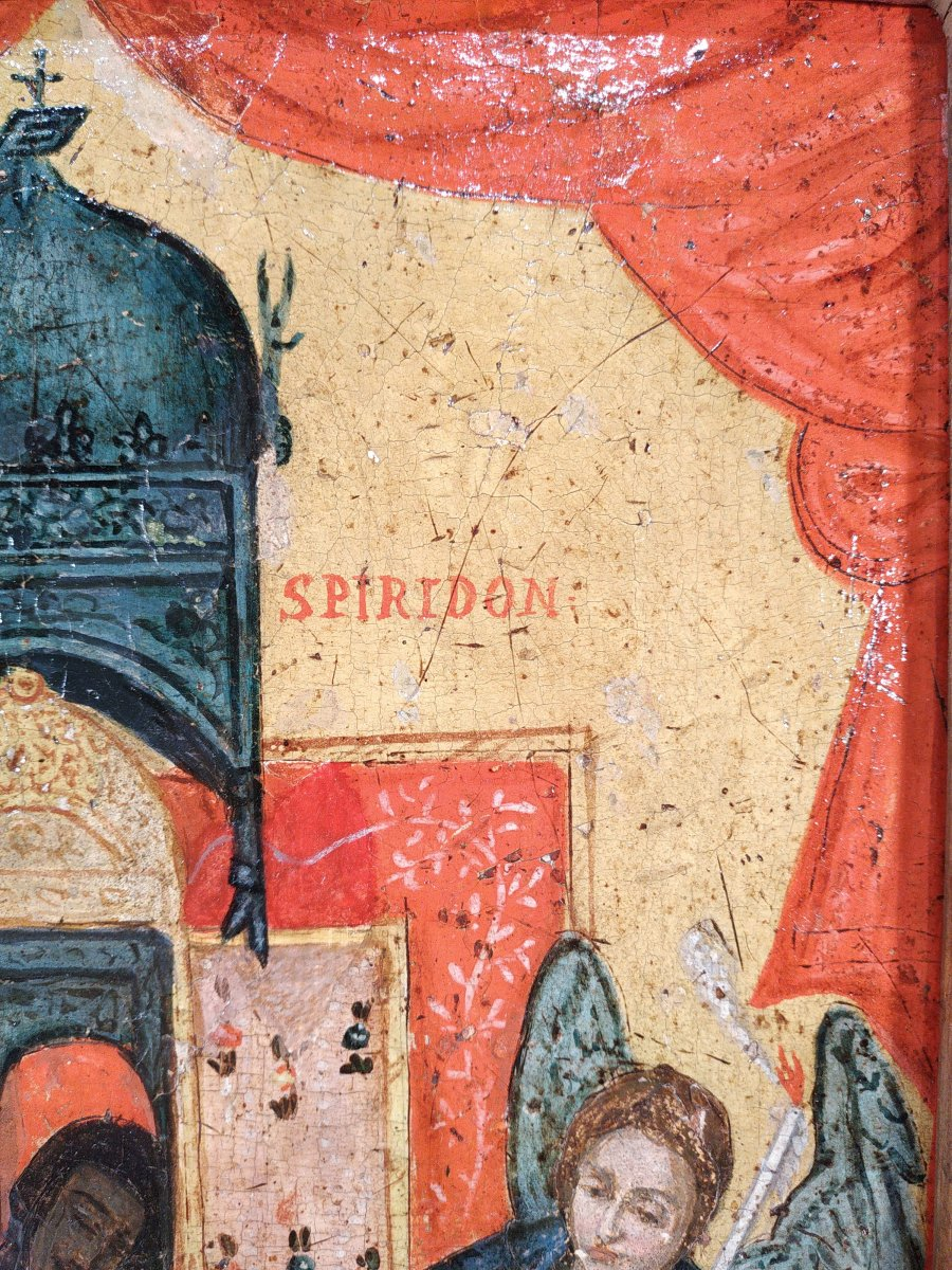 Monstrance Des Reliques De Saint Spiridon Icône Corfou 18e - Ο Άγιος Σπυρίδων -photo-4