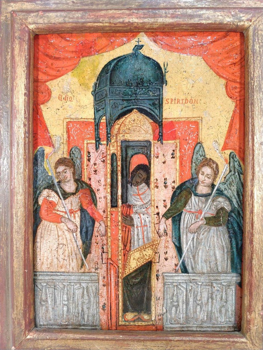 Monstrance Des Reliques De Saint Spiridon Icône Corfou 18e - Ο Άγιος Σπυρίδων -photo-5