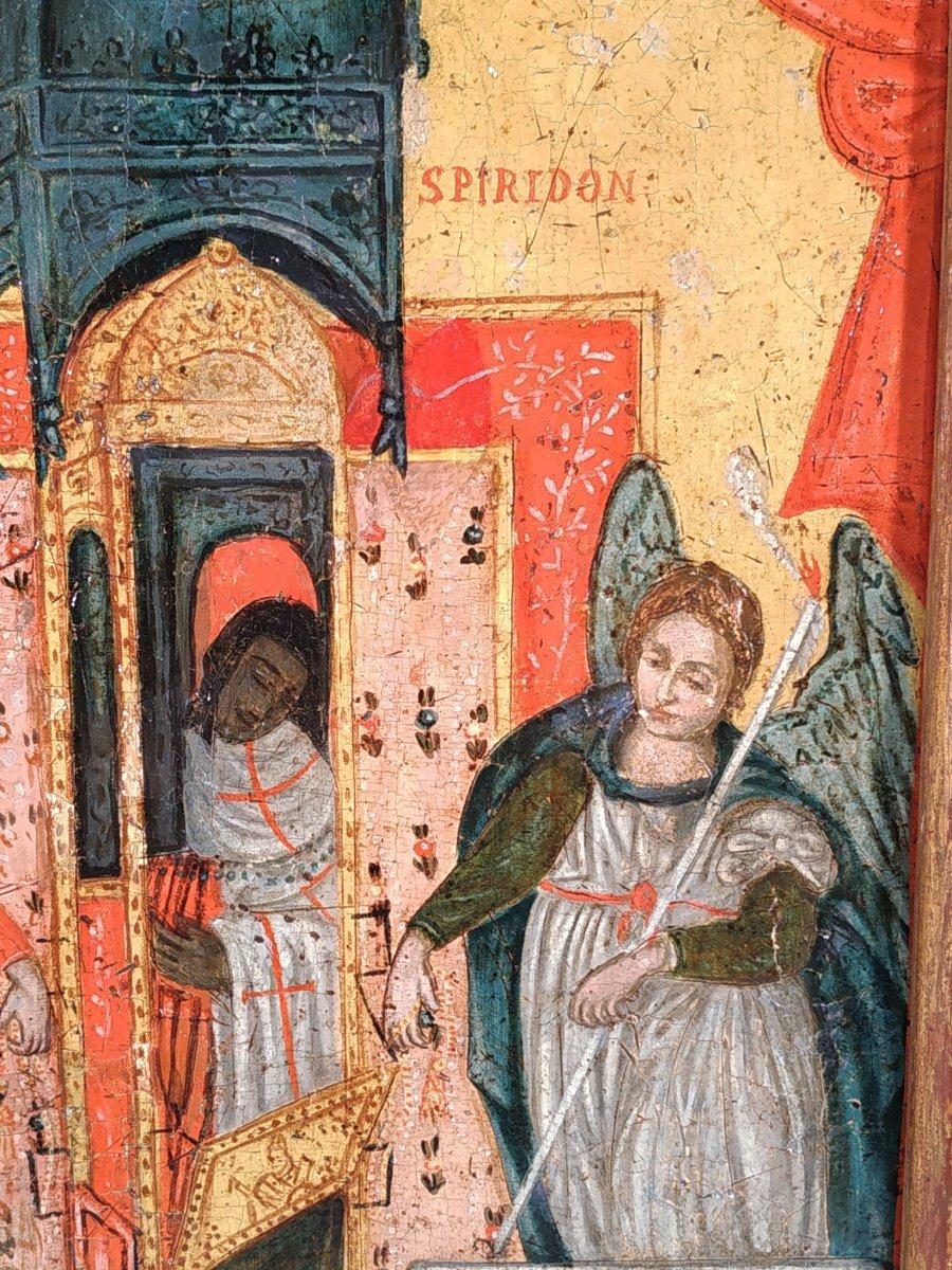 Monstrance Des Reliques De Saint Spiridon Icône Corfou 18e - Ο Άγιος Σπυρίδων -photo-6