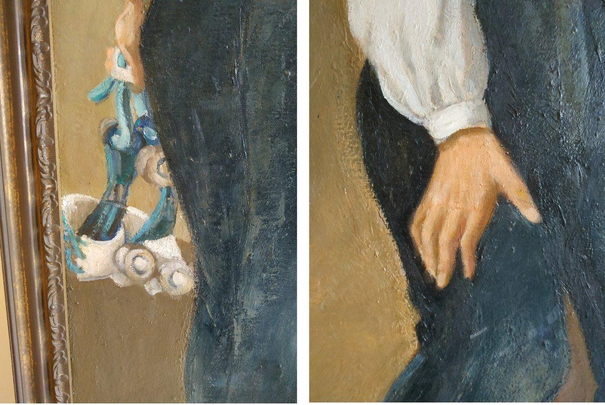 Enfants Aux Monocycles - Grande Peinture 101 X 128 - 1960-70-photo-1