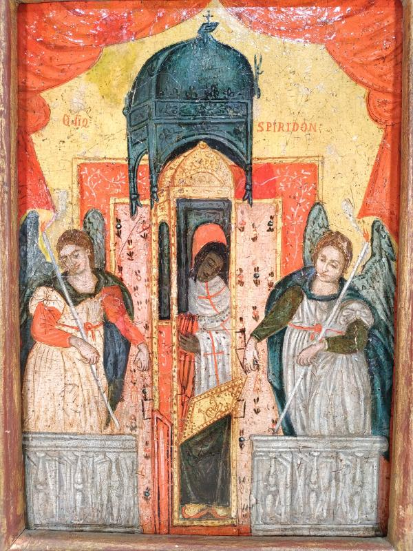 Monstrance Des Reliques De Saint Spiridon Icône Corfou 18e - Ο Άγιος Σπυρίδων -photo-2