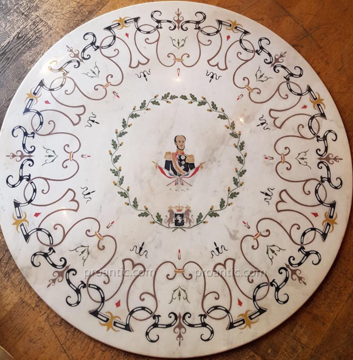 Scagliola - Guillaume II de Hesse-cassel (1777-1847)