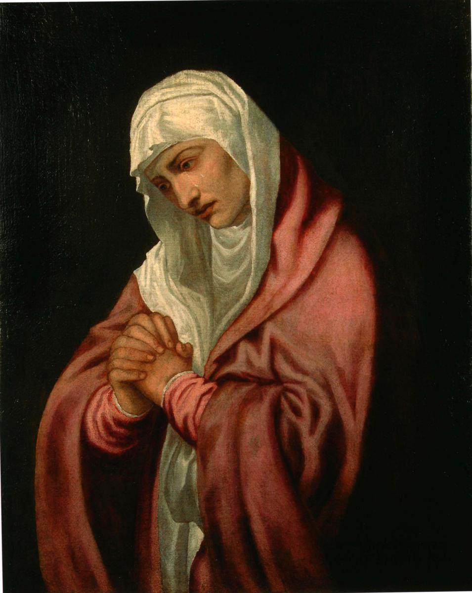 Tableau Huile Sur Toile 'Addolorata' Titian