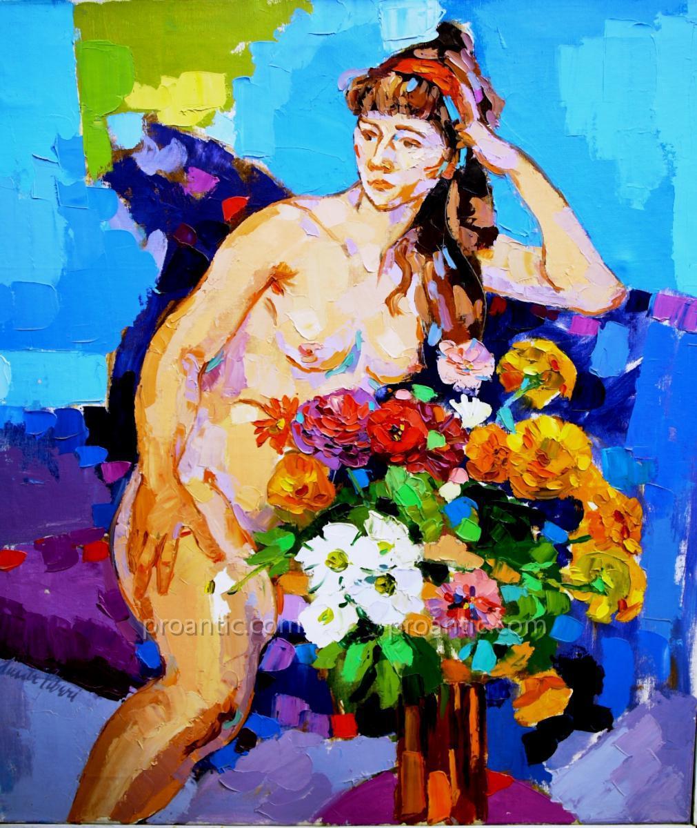 Dante Liberi: Peinture  A l'Huile Sur Toile 'printemps'
