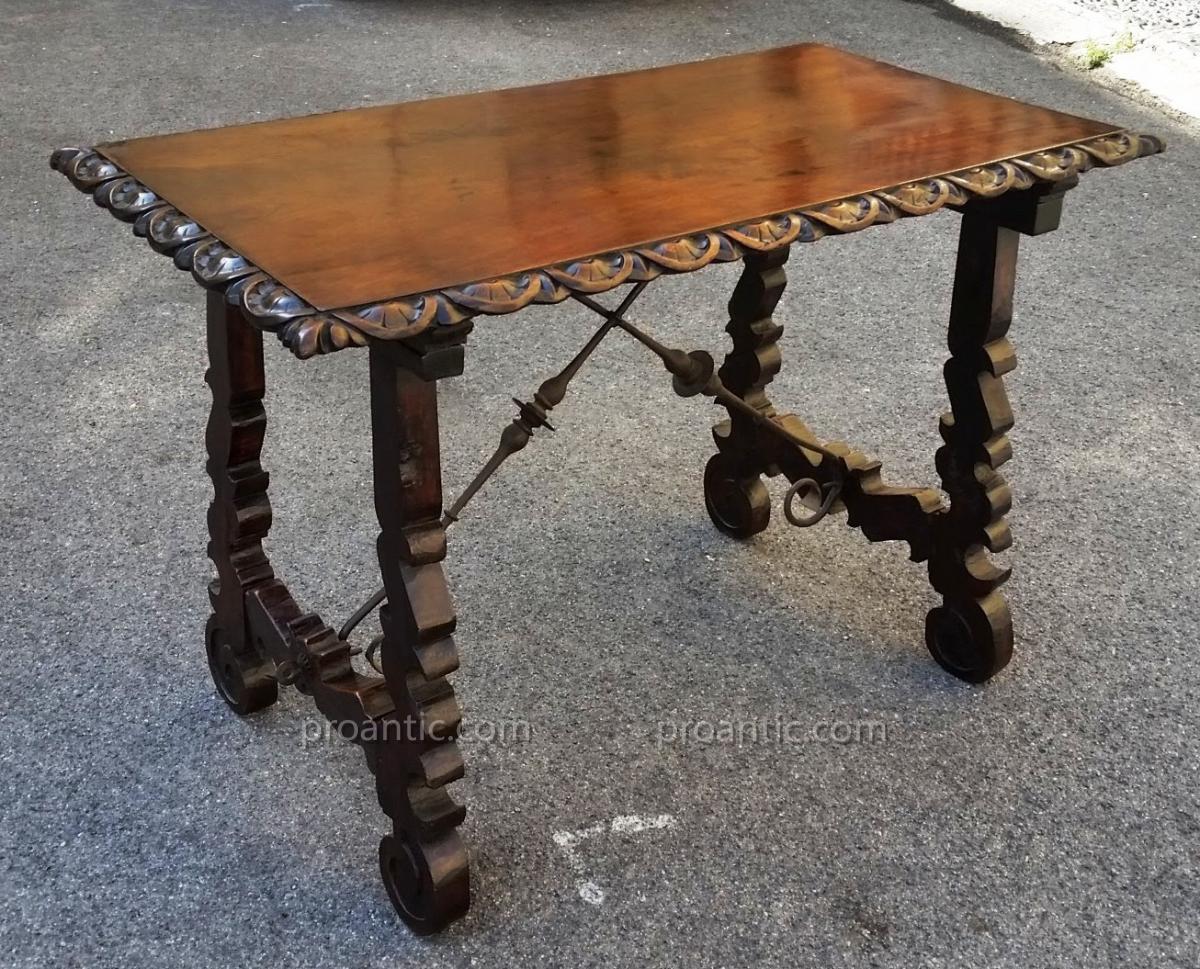 Table 'a Lyre' En Noyer XVII°
