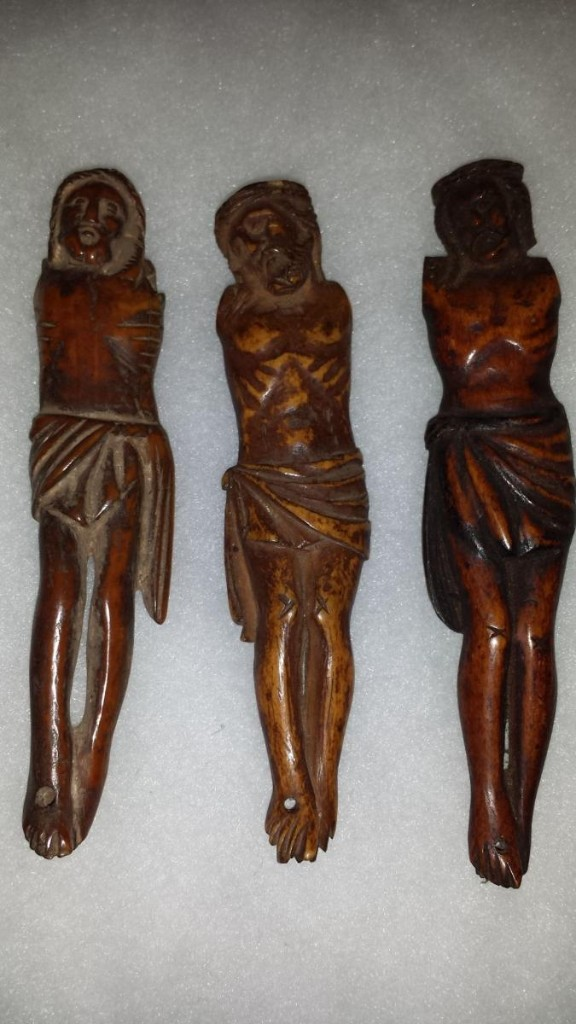 3 Anciennnes Figures  'christ' Goa, XVII/xviii Siecle