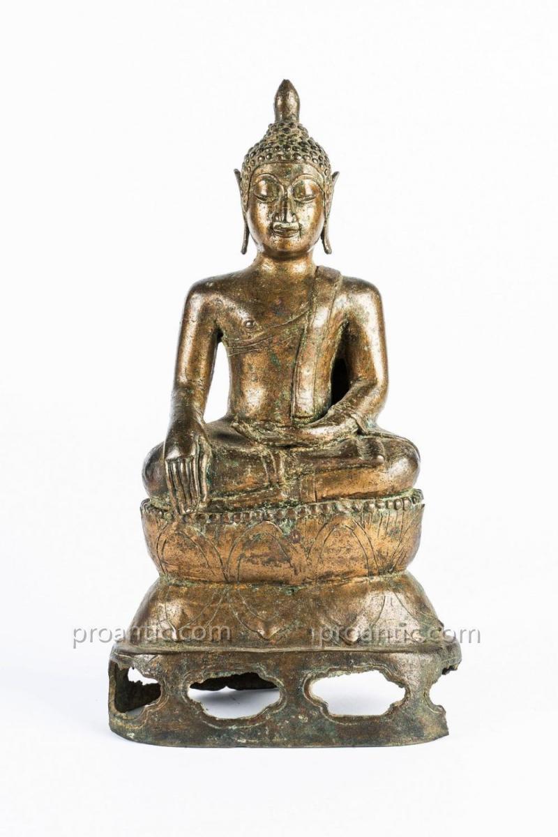 Bouddha En Bronze Du Lan - Na. Thailande, 16eme Siecle