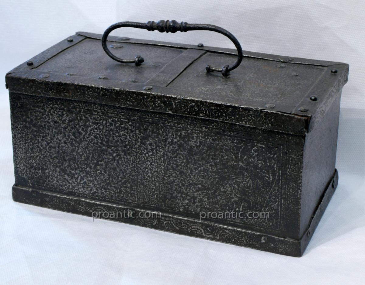 Rare Iron Box, Germany Sixteenth Century