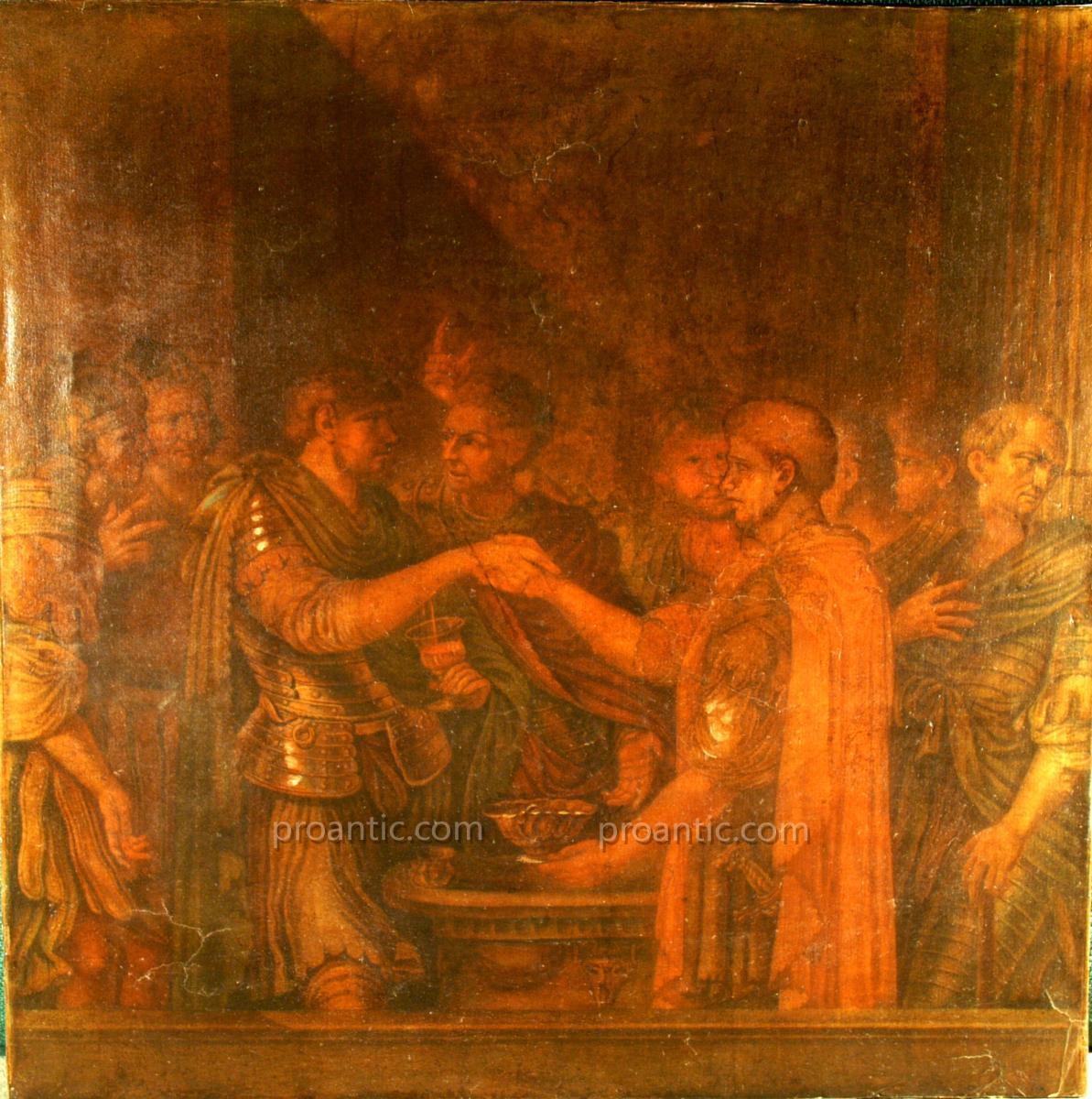 Etude Sur Papier 'catilina' Atelier De Guido Reni