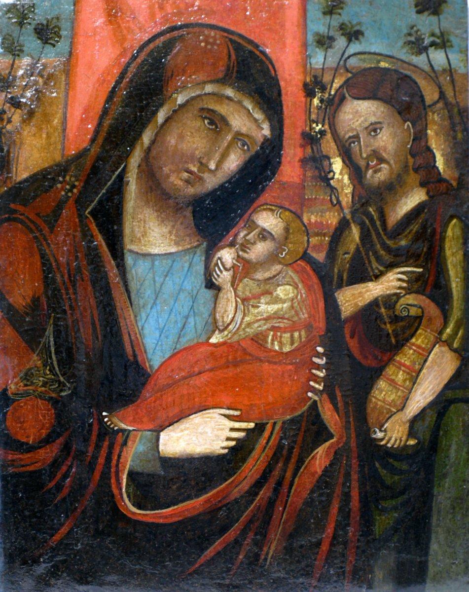 Old Icon School Veneto-cretan 'holy Family'