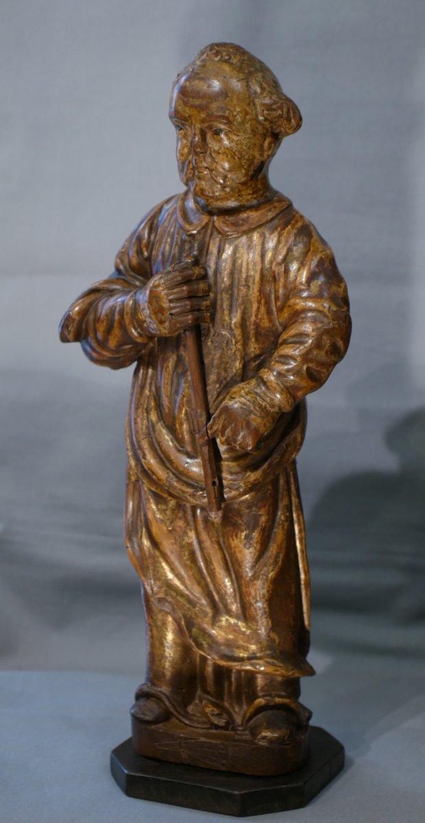 Statue En Bois Dore' 'saint'