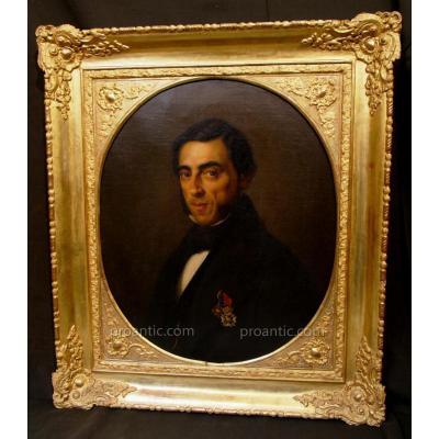Portrait Beautiful XIX De Vivo Figlio With Its Setting Dore '