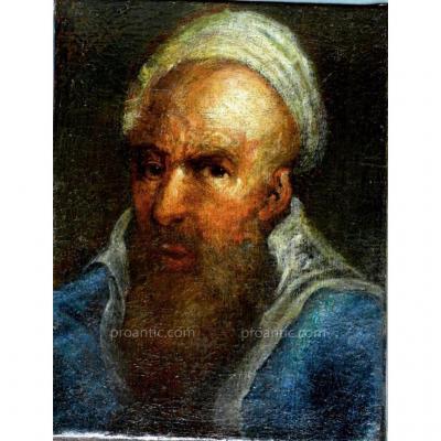 Tableau  A l' Huile Sur Toile  'portrait d'Homme' XVII° Siecle