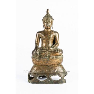 Buddha Bronze Lan - Na. Thailand, 16th Century