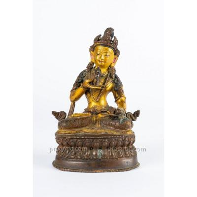 Vajrasattva In Bronze. Sino - Tibet, 19th Century