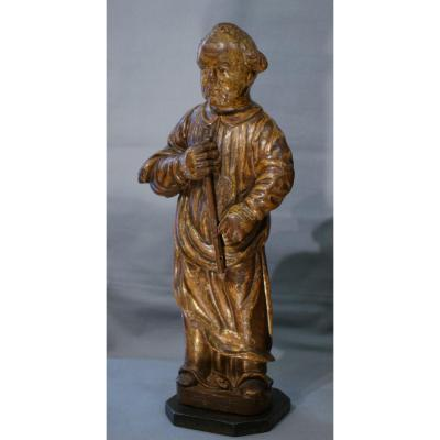 Wooden Statue Dore '' Saint '