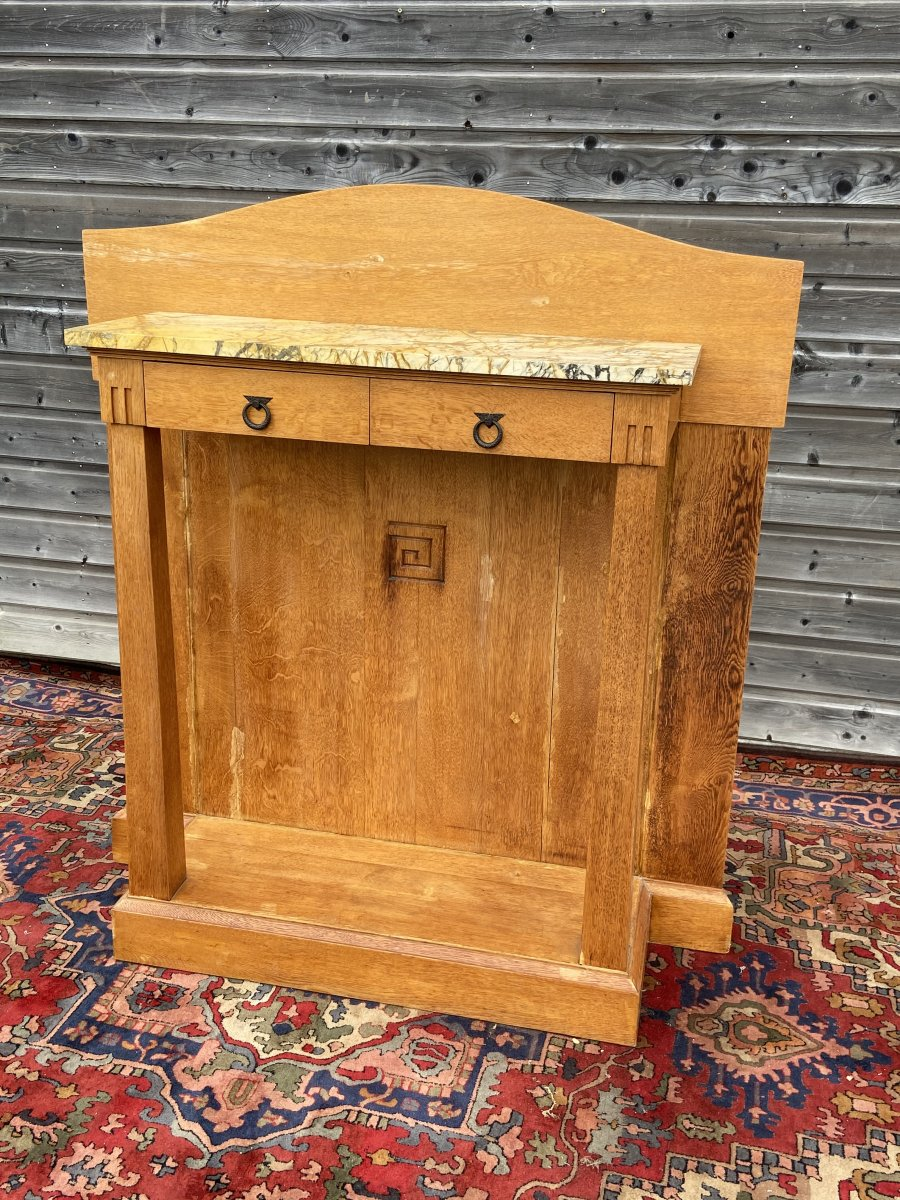 Art Nouveau Console With Support Height