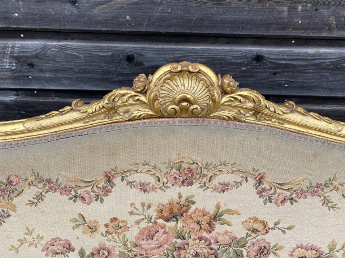 Living Room Furniture In Golden Wood XIX Eme Century-photo-1