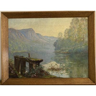 Oil On Canvas By Edmond Le Bienvenue Dutourp