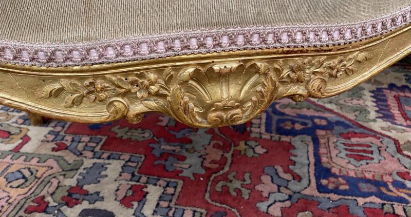 Living Room Furniture In Golden Wood XIX Eme Century-photo-2