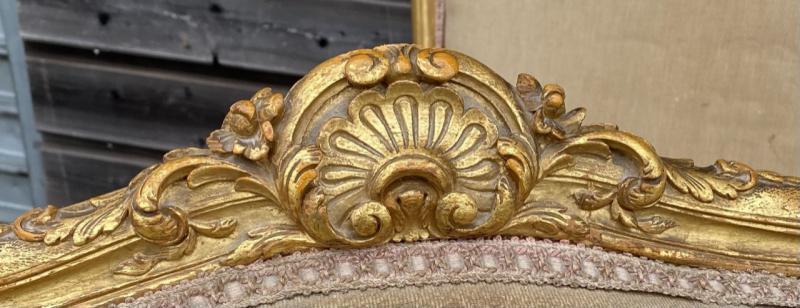 Living Room Furniture In Golden Wood XIX Eme Century-photo-3