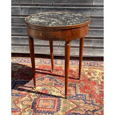 Table Bouillotte En Noyer D'époque Directoire XVIII Eme Siècle