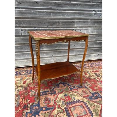 Table De Milieu De Style Louis XV XIX Eme Siècle