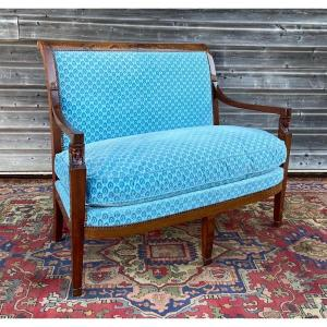 Mahogany Bench Consulate Period Return From Egypt