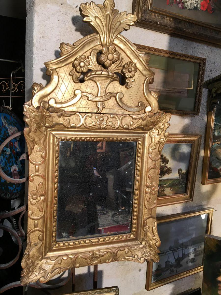 Miroir Doré D époque Regence
