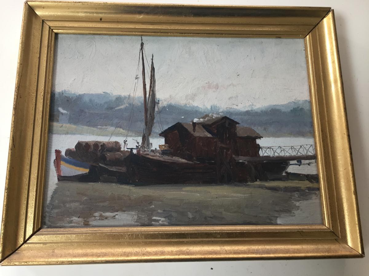 Marine bord de Garonne de Courregelongue 1877.1959