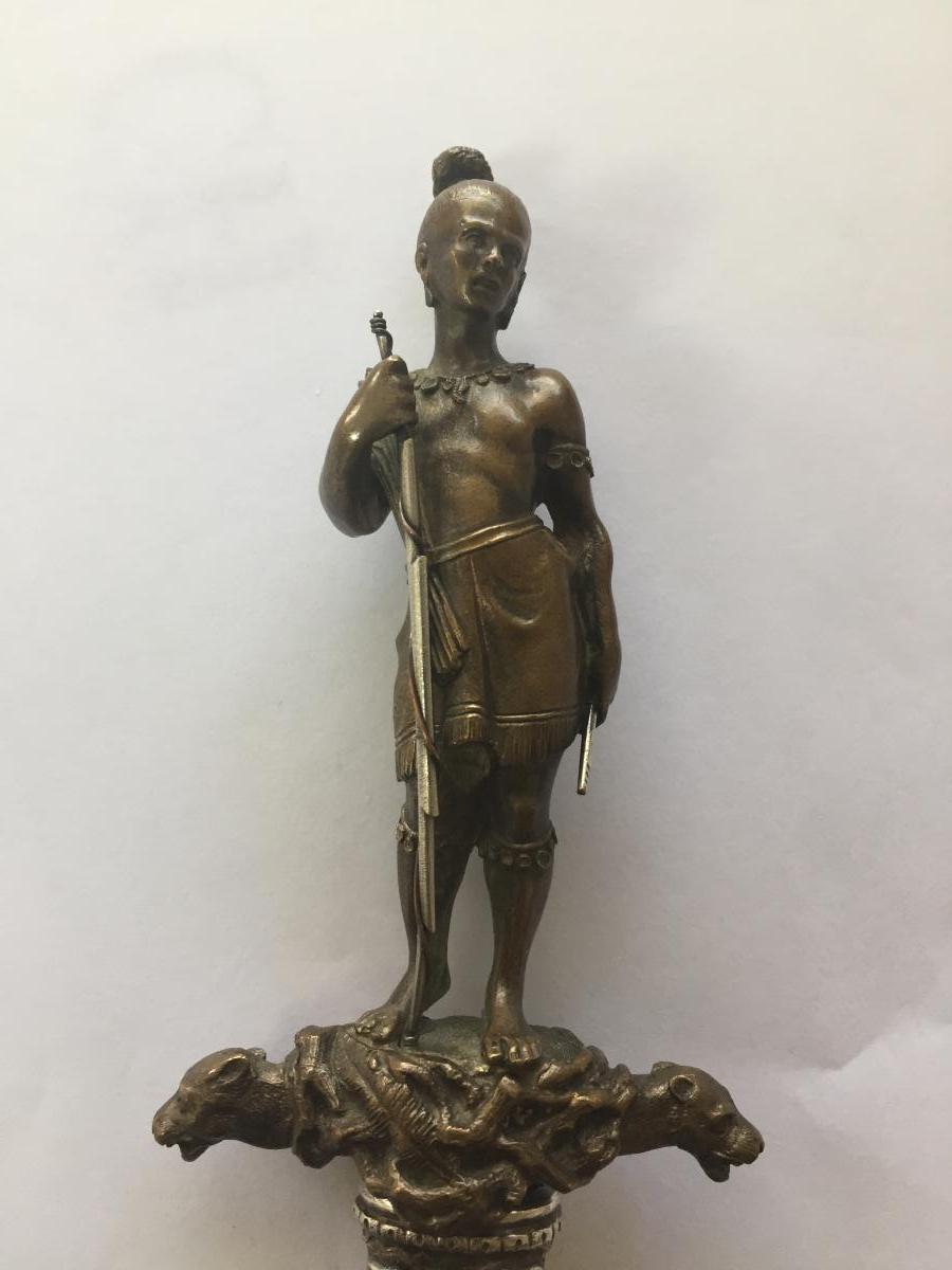 Dague Bronze Et Argent XIXeme