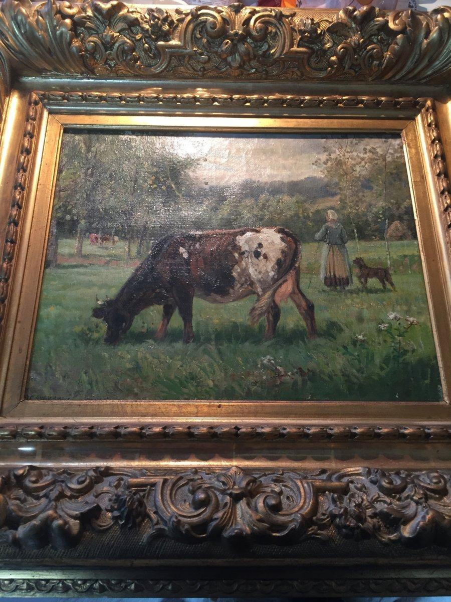 Vaches A La Prairie De James Desvarreux  Larpenteur