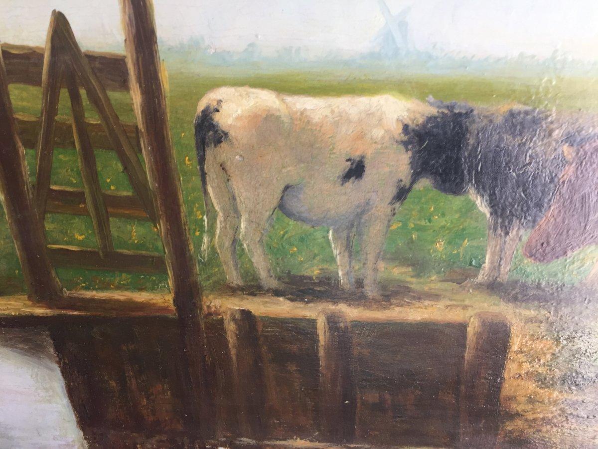 Vaches Au Pâturage XIXeme -photo-5
