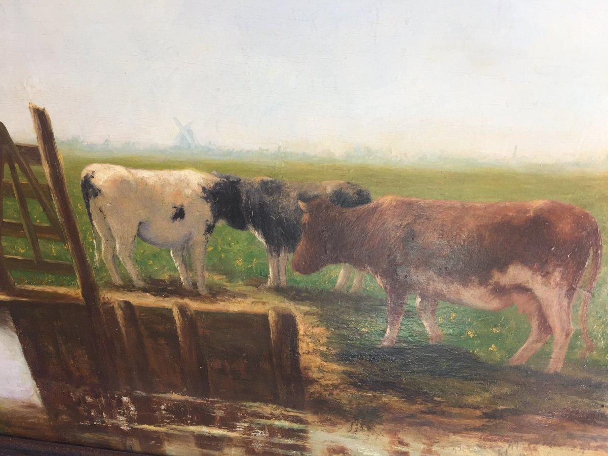 Vaches Au Pâturage XIXeme -photo-8