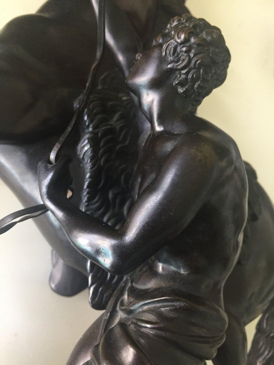 Bronze Coustou : Chevaux De Marly L'africain
