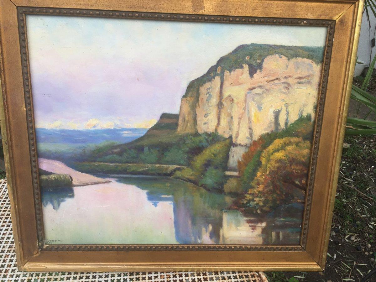 Paysage à La Rivière De Dordogne -photo-4