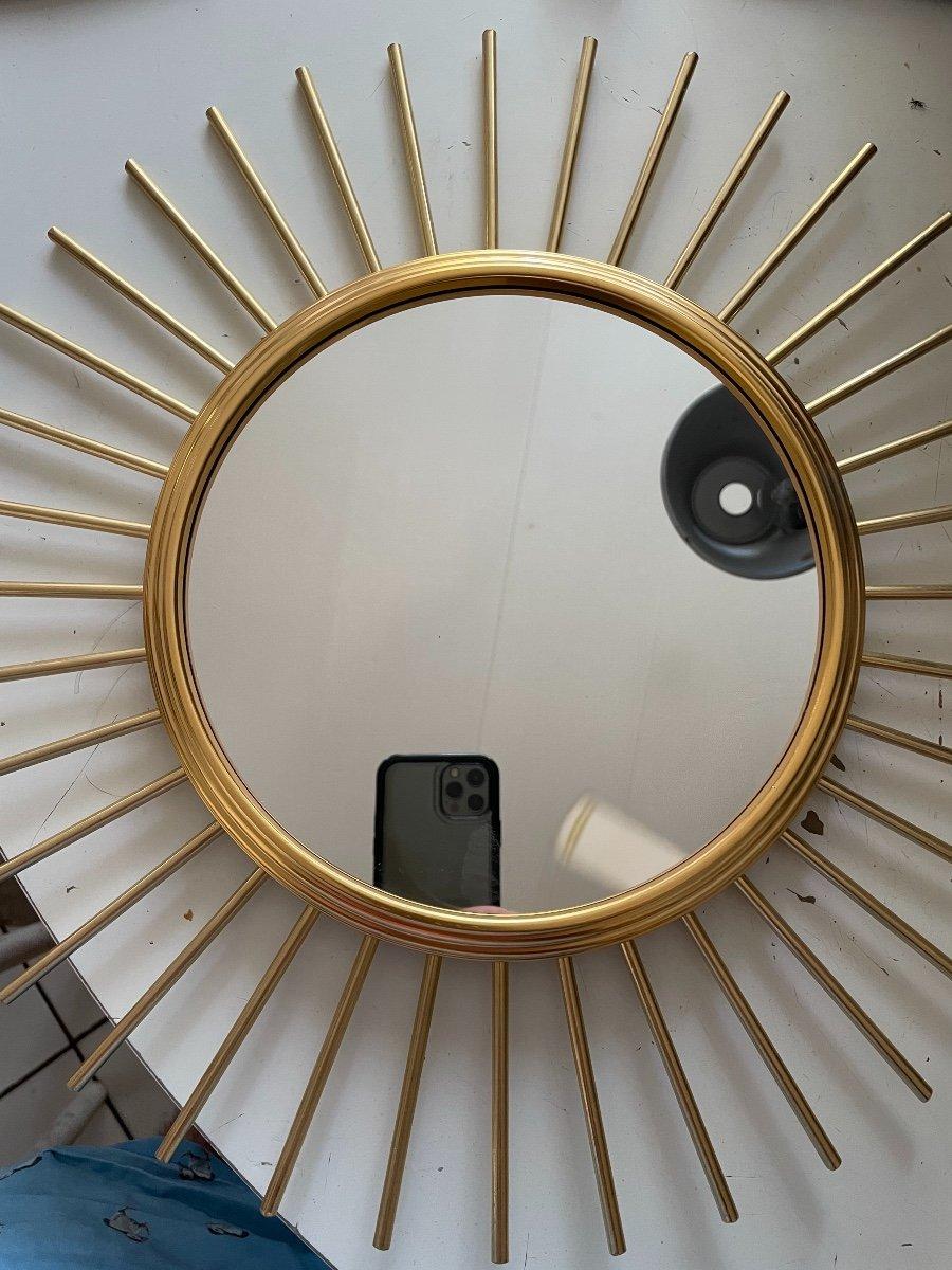 Miroir Soleil Bronze Doré -photo-2